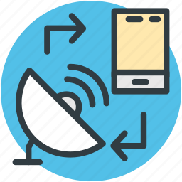 mobile communication, mobile network, mobile technology, mobility, network services icon