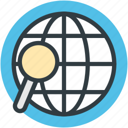 global search, magnifying, marketing, research, searching world icon