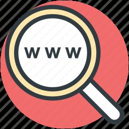 keyword, magnifier, optimization, seo, www icon