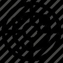 connection, network, radar icon