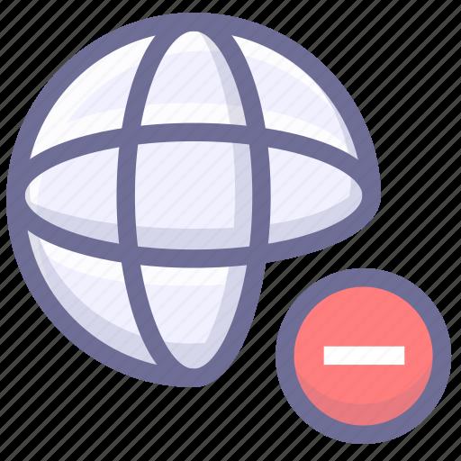 block website, connection, internet icon