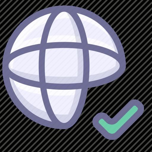 check, internet, network icon