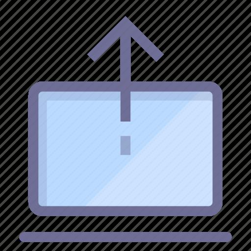 datas, internet, laptop, upload icon