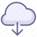 cloud download, download, download from cloud icon