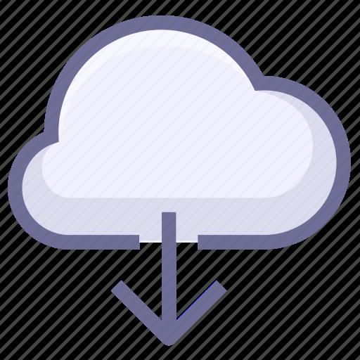 cloud download, download, download from cloud icon