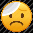 bandage, emoji, emoticon, face, head, smiley, with