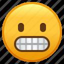 emoji, face, grimacing, smiley