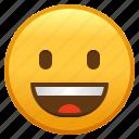 emoji, emoticon, face, grinning, smiley