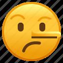 lie, lying, emoji, face, smiley icon