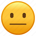 emoji, emoticon, face, neutral, smiley