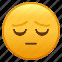 emoji, emotion, face, negative, pensive, sad, smiley