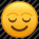 emoji, emoticon, face, psychology, relieved, smiley