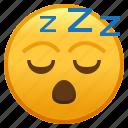emoji, emoticon, face, sleep, sleeping, smiley