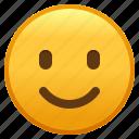 emoji, emoticon, face, slightly, smiley, smiling
