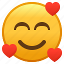 emoji, face, hearts, love, smiley, smiling, with