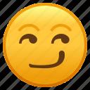 emoji, face, smiley, smirk, smirking icon