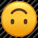 down, emoji, face, smiley, upside