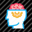 brain, gear, human, medicine, neurology icon