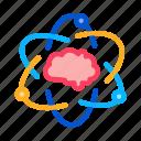 atom, brain, human, medicine, neurology icon