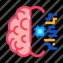 brain, chip, medicine, neurology icon