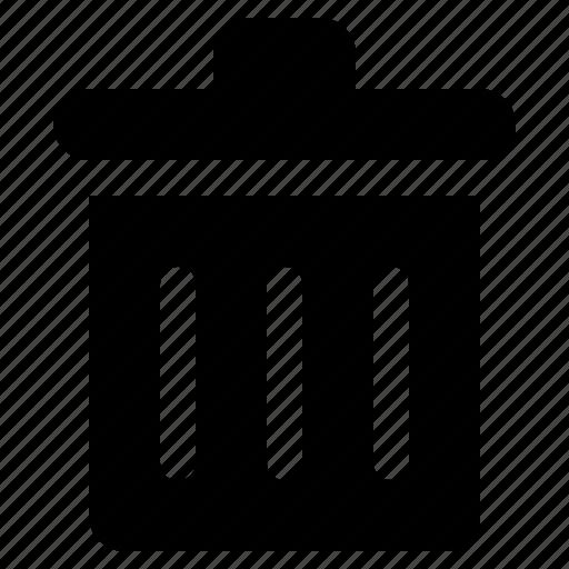 bin, can, delete, garbage, remove, trash icon