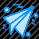 business, paper, plane icon