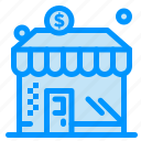 business, dollar, money, shop icon