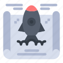 achievement, business, rocket icon