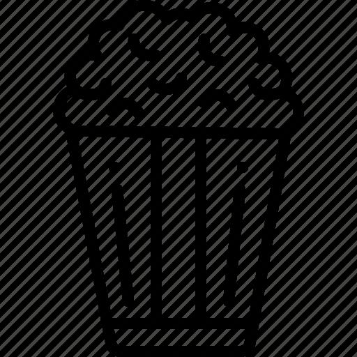 corn, crunchy, popcorn, snack, unhealthy icon