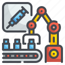 electronics, futuristic, industry, machine, medical, robot, technology icon