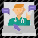 doctor, medical, medicine, doctor appointment, online doctor, online medical icon