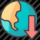 deglobalization, down, earth, globe