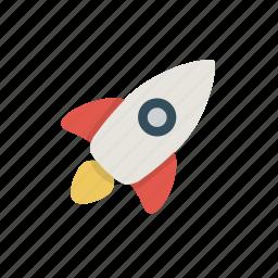 launch, marketing, retro, rocket, success icon