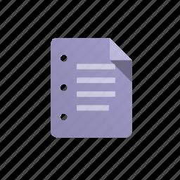 doc, document, file, list, paper, purple, sheet icon
