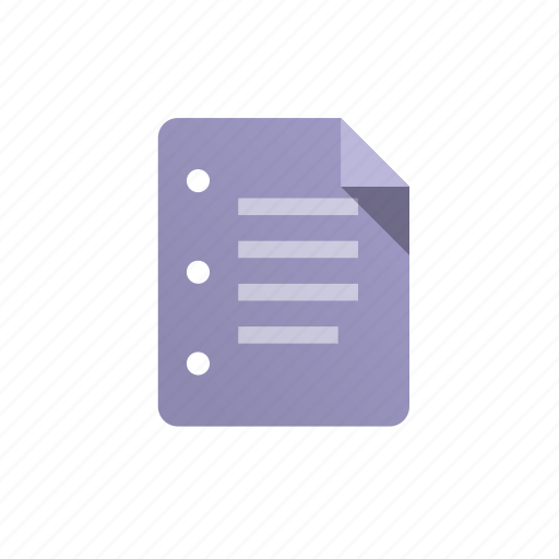 doc, document, file, list, paper, purple, sheet icon