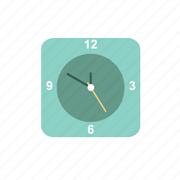 clock, green, schedule, time, wait icon
