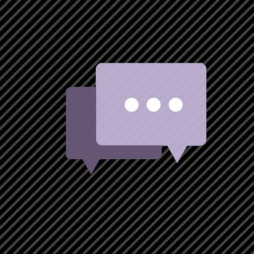 chat, comment, discuss, purple, talk, text icon