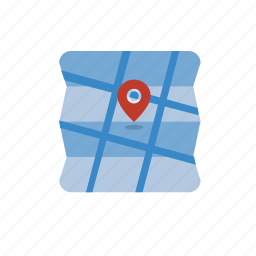 blue, direction, location, map, navigation icon