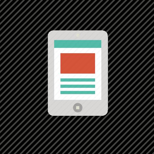 article, ebook, file, page, read icon