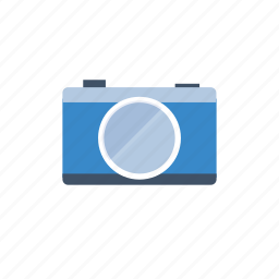 blue, camera, image, photo, photography, pictures, retro, video icon