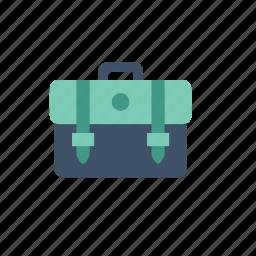 bag, bagpack, education, green, retro, school, study icon