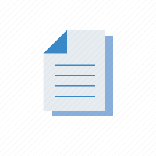 blue, copy, doc, document, file, files icon
