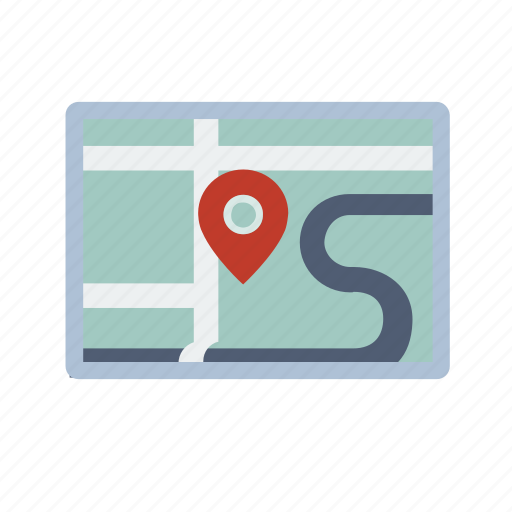 location, map, pin, retro icon