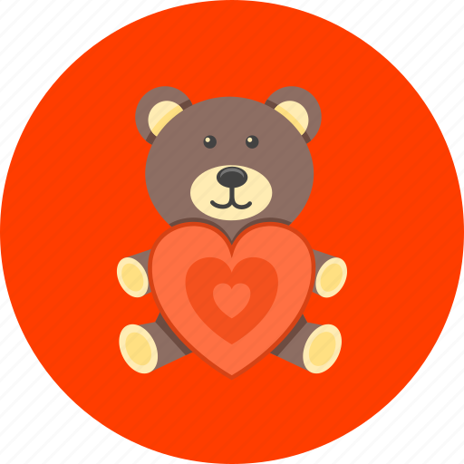 baby, bear, kids, love, present, teddy, toy icon