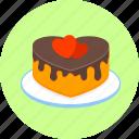 cake, birthday, celebration, decoration, hearts, love, romantic