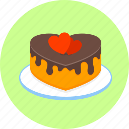 birthday, cake, celebration, decoration, hearts, love, romantic icon