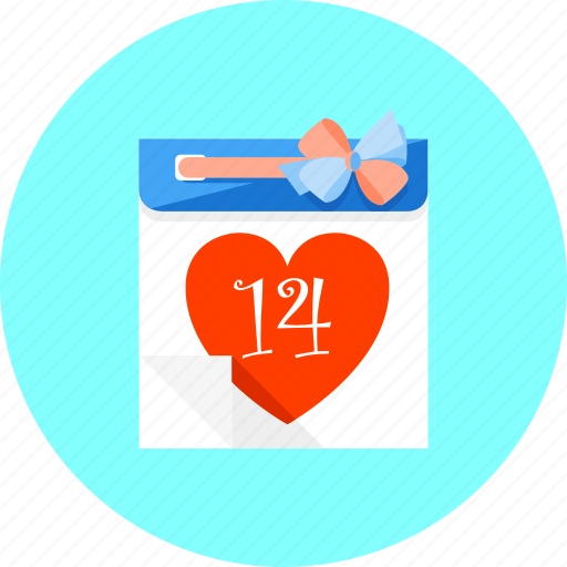calendar, day, event, heart, love, romantic, valentine icon