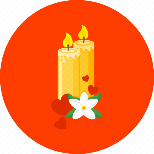 candles, celebration, christmas, decoration, love, party, romance icon