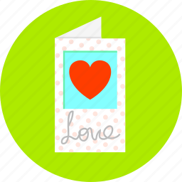 card, hearts, love, romance, valentine's day, wishes icon