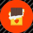 chocolate, dessert, heart, love, present, romance, sweets